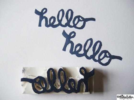 Workspace Wednesday - Hello Handmade Stamps at www.elistonbutton.com - Eliston Button - That Crafty Kid