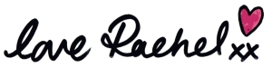 Love Rachel signature - That Crafty Kid, Creative Entrepreneur and Head Buttoneer at www.elistonbutton.com