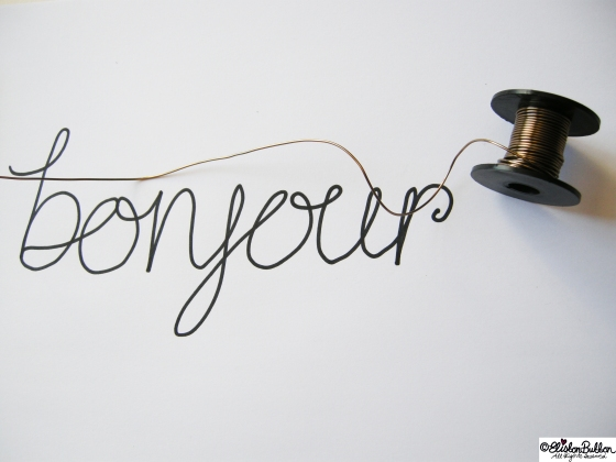 Wire Script Wall Art at www.elistonbutton.com - Eliston Button -