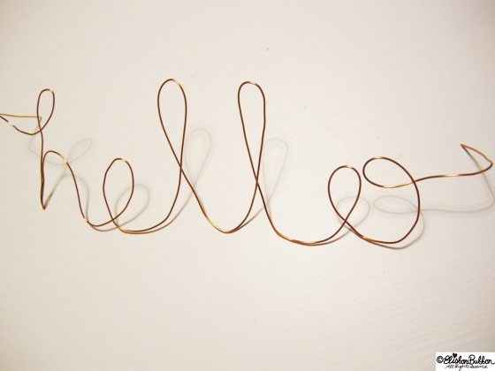 Wire Script Wall Art at www.elistonbutton.com - Eliston Button - That Crafty Kid
