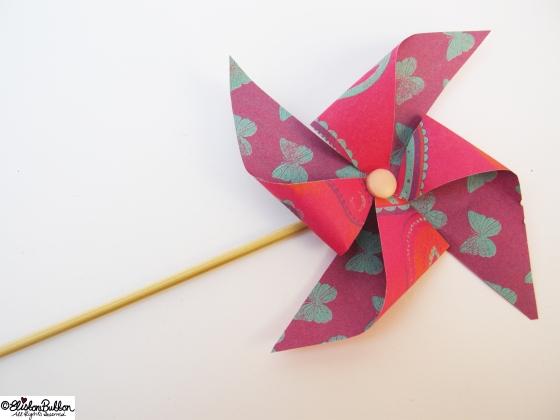 Paper Pinwheels at www.elistonbutton.com - Eliston Button - That Crafty Kid
