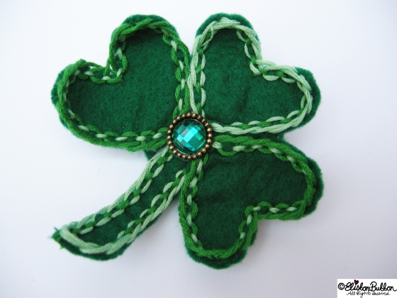 'Lucky' is brooch number 11 in the '27 before 27' blog challenge at www.elistonbutton.com - Eliston Button - That Crafty Kid