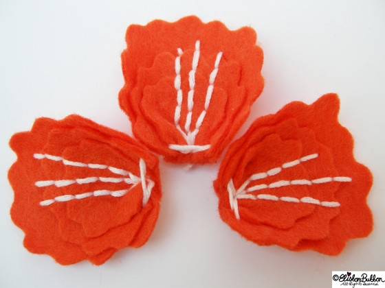 'Tangerine' is felt brooch No.12  in my '27 before 27'  at www.elistonbutton.com - Eliston Button - That Crafty Kid