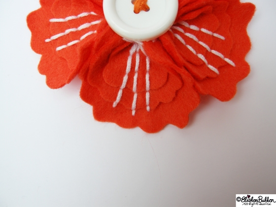 'Tangerine' is felt brooch No.12 in my '27 before 27' at www.elistonbutton... - Eliston Button - That Crafty Kid