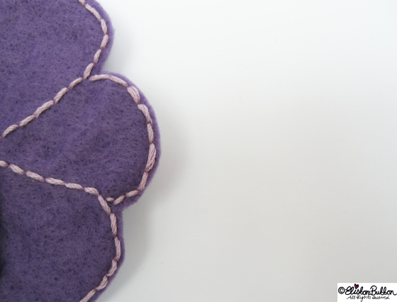 Amethyst is embroidered felt brooch No.15 in the '27 Before 27' blog challenge  at www.elistonbutton.com - Eliston Button - That Crafty Kid