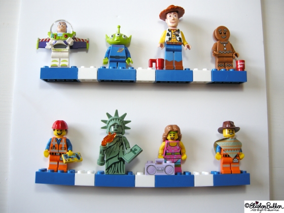 Lego Minifigure Displays at www.elistonbutton.com - Eliston Button - That Crafty Kid