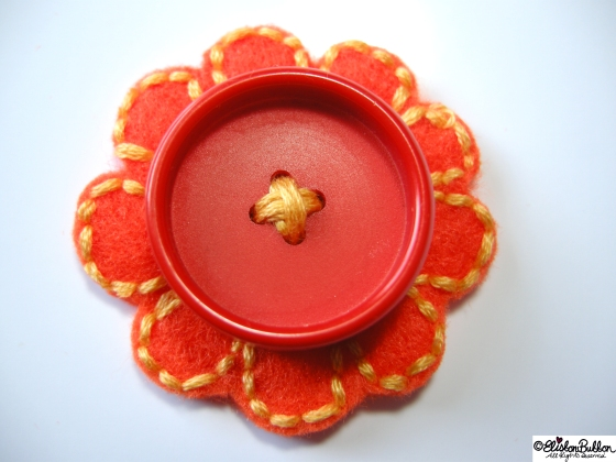 Oranges and Lemons is embroidered felt brooch No.23 in the '27 Before 27' blog challenge at www.elistonbutton.com - Eliston Button - That Crafty Kid