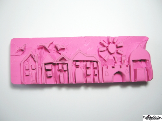 Hand-carved Streetscape stamps at www.elistonbutton.com - Eliston Button - That Crafty Kid