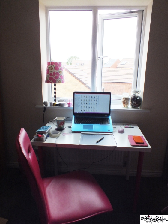 Workspace Wednesday (and why I am shouting for a time out) at www.elistonbutton.com - Eliston Button - That Crafty Kid