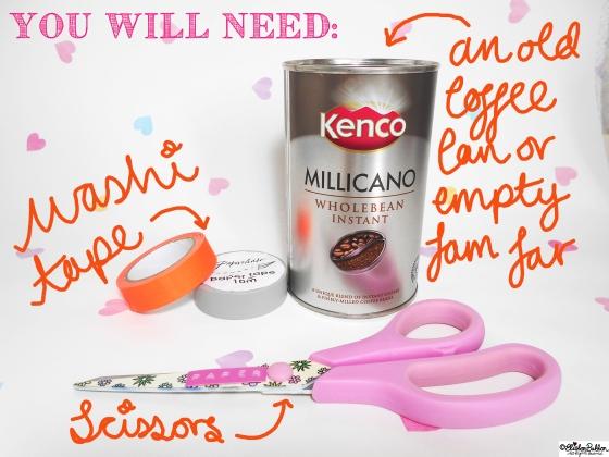 Tutorial Tuesday – Washi Tape Pen Pots at www.elistonbutton.com - Eliston Button - That Crafty Kid