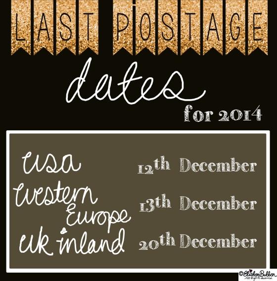 Eliston Button Etsy Shop and Last Postage Dates at www.elistonbutton.com - Eliston Button - That Crafty Kid