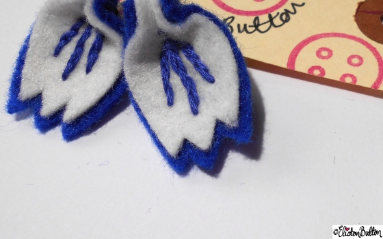 Create 28 – Embroidered Felt Petal Earrings at www.elistonbutton.com - Eliston Button - That Crafty Kid