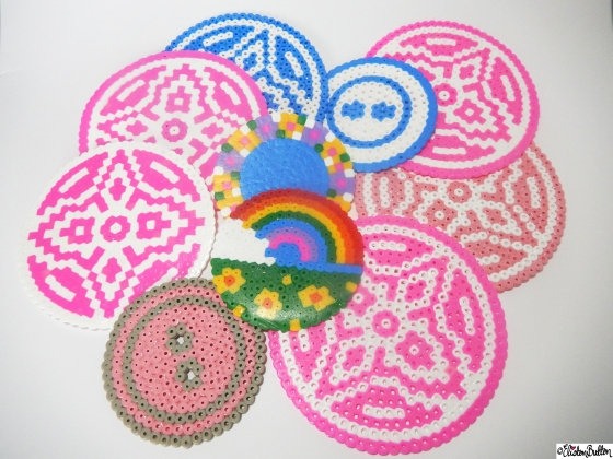 Create 28 – No. 9&10 – Picture Bead Coasters at www.elistonbutton.com - Eliston Button - That Crafty Kid