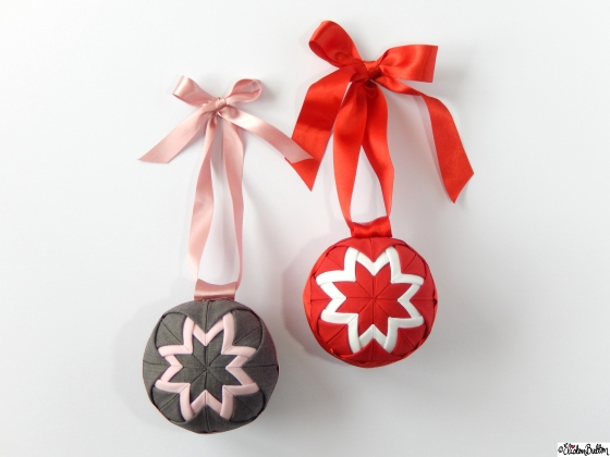 Create 28 – No. 24 & 25 – Quilted Ball Decorations at www.elistonbutton.com - Eliston Button - That Crafty Kid
