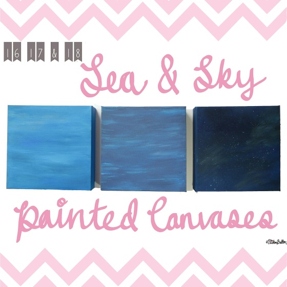 Sea and Sky Painted Canvases - Create 28 – I Did It! at www.elistonbutton.com - Eliston Button - That Crafty Kid