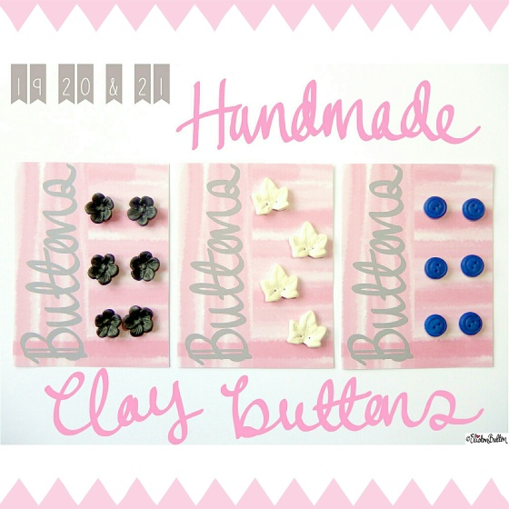 Handmade Clay Buttons - Create 28 – I Did It! at www.elistonbutton.com - Eliston Button - That Crafty Kid