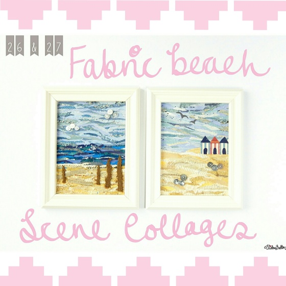 Fabric Beach Scene Collages - Create 28 – I Did It! at www.elistonbutton.com - Eliston Button - That Crafty Kid
