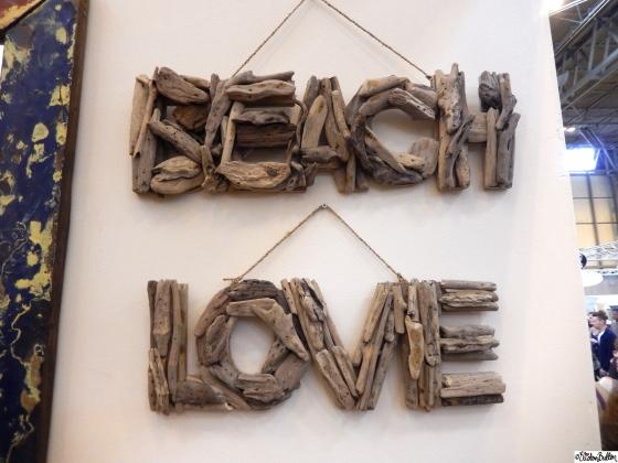 Beach and Love Driftwood Word Art - Grand Designs Live 2015 – Part One at www.elistonbutton.com - Eliston Button - That Crafty Kid