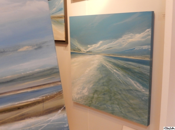 Beautiful Beach Art Canvases by Jane Skingley Fine Art - Grand Designs Live 2015 – Part One at www.elistonbutton.com - Eliston Button - That Crafty Kid
