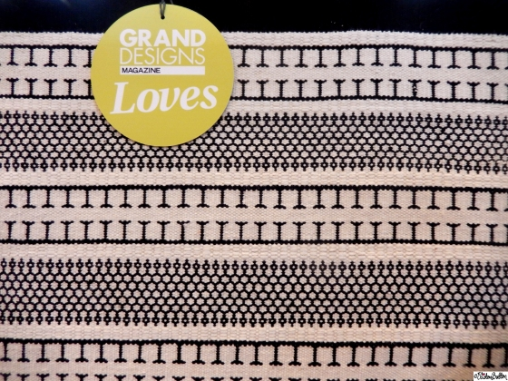 Black and White Aztec Pattern Rug - Grand Designs Live 2015 – Part One at www.elistonbutton.com - Eliston Button - That Crafty Kid