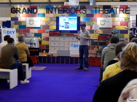D.I.Y Talk on The Grand Interiors Theatre Stage at Grand Designs Live 2015 – Part Two at www.elistonbutton.com - Eliston Button - That Crafty Kid