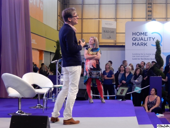 Dan Hopwood and Sophie Robinson from The Great Interior Design Challenge talking about Luxury for Less - Grand Designs Live 2015 – Part One at www.elistonbutton.com - Eliston Button - That Crafty Kid