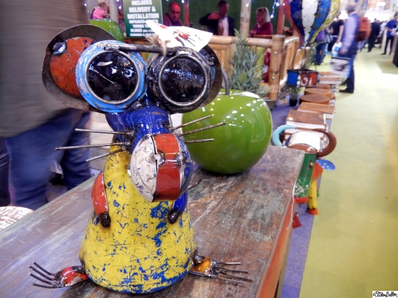 Recycled Metal Mouse Sculpture at Grand Designs Live 2015 – Part Two at www.elistonbutton.com - Eliston Button - That Crafty Kid