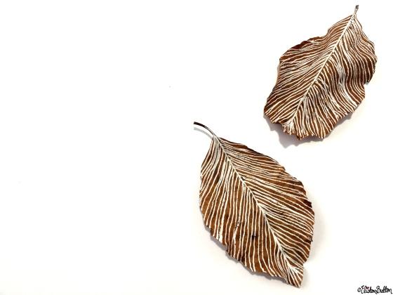 Feather Leaves - Workspace Wednesday – Autumn Leaf Art at www.elistonbutton.com - Eliston Button - That Crafty Kid