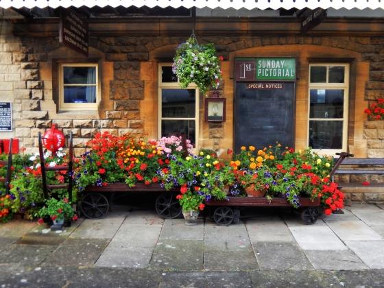 Gloucestershire Warwickshire Steam Railway - Gotherington Station Flowers - This Steam Train Stops at Hogwarts…Right!? at www.elistonbutton.com - Eliston Button - That Crafty Kid