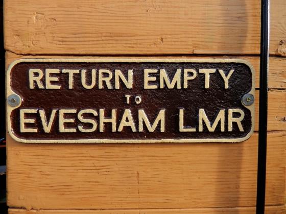 Gloucestershire Warwickshire Steam Railway - Old Fashioned Evesham LMR Wagon Plate - This Steam Train Stops at Hogwarts…Right!? at www.elistonbutton.com - Eliston Button - That Crafty Kid