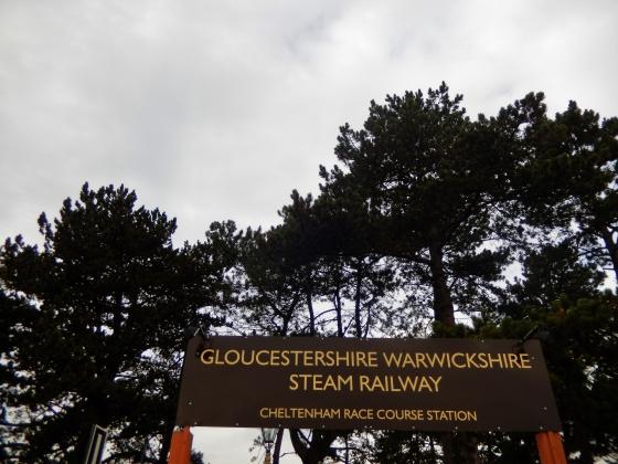 Gloucestershire Warwickshire Steam Railway Sign - This Steam Train Stops at Hogwarts…Right!? at www.elistonbutton.com - Eliston Button - That Crafty Kid