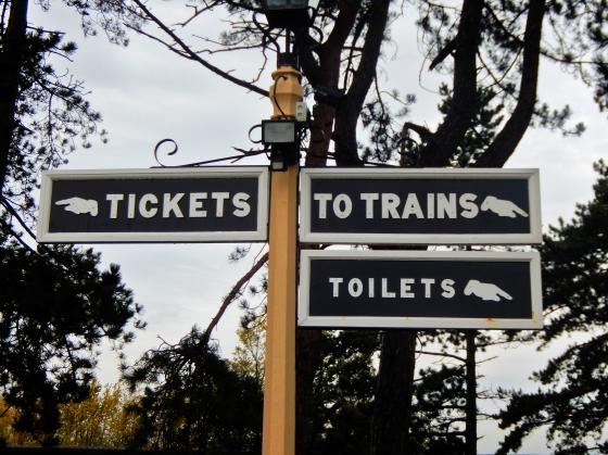 Gloucestershire Warwickshire Steam Railway - Signpost - This Steam Train Stops at Hogwarts…Right!? at www.elistonbutton.com - Eliston Button - That Crafty Kid