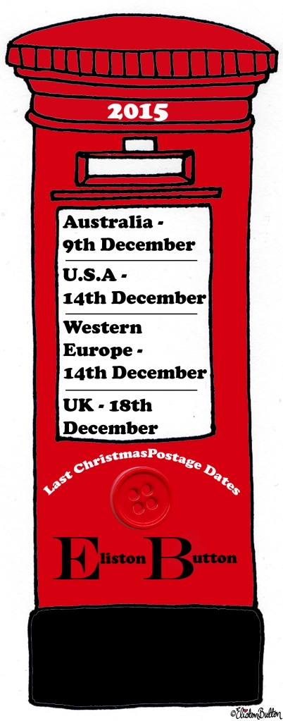 Illustrated Red Post Box with Last Christmas Postage Dates - It's Beginning to Look a Lot Like Christmas (and Last Christmas Postage Dates) at www.elistonbutton.com - Eliston Button - That Crafty Kid