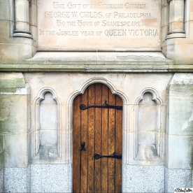 Little Door on the Gothic Clock Tower Memorial in Stratford-upon-Avon - Around Here…November 2015 at www.elistonbutton.com - Eliston Button - That Crafty Kid