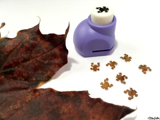 Little Leaf Frogs - Workspace Wednesday – Autumn Leaf Art at www.elistonbutton.com - Eliston Button - That Crafty Kid