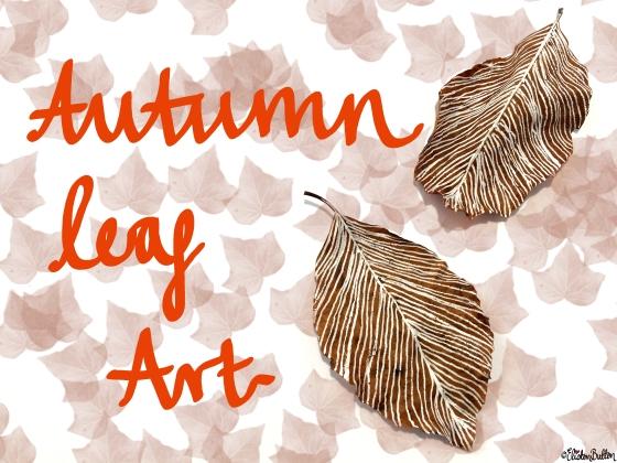 Workspace Wednesday – Autumn Leaf Art at www.elistonbutton.com - Eliston Button - That Crafty Kid
