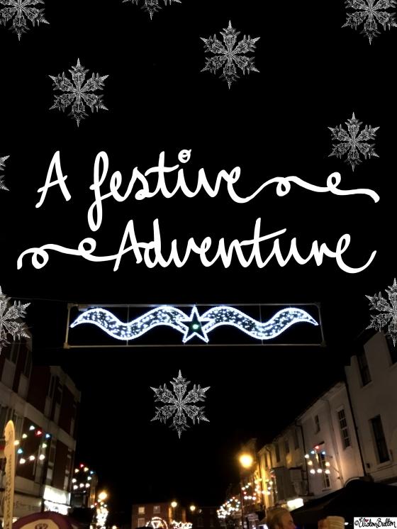 A Festive Adventure Hand Lettering - A Festive Adventure at www.elistonbutton.com - Eliston Button - That Crafty Kid